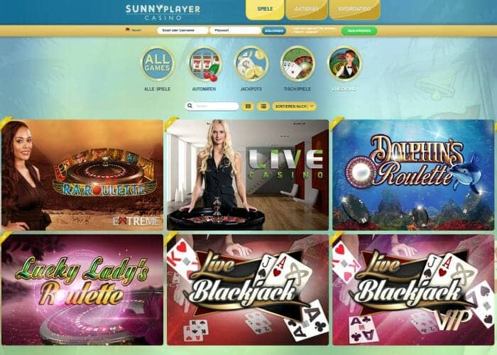 sunnyplayer live casino klein